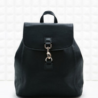 Small Dog Clip Backpack in Black - Urban Outfitters