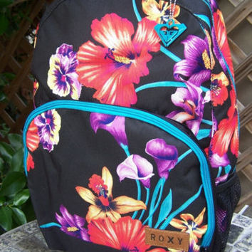 ROXY Tropical Floral Glam Squad Backpack Bag NWT
