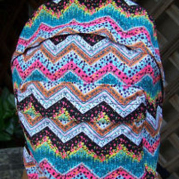 ROXY Chevron Aztec School Backpack Book Bag NWT