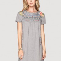 Johnny Was | Danielle Peasant Dress in Grey | Dresses | JWLA by Johnny Was