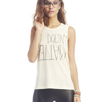 "April ""It Doesn't Matter"" Tank 