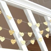 Vintage Inspired Music Sheet Heart Garland - 3 Yards | Luulla