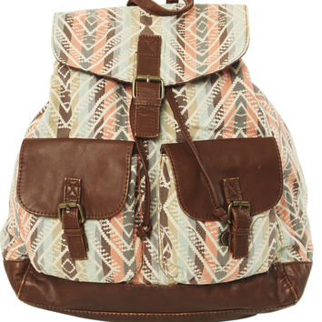 Aztec Print Backpack - WetSeal