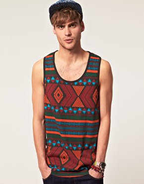Jack & Jones Intelligence | Jack & Jones Intelligence Tribal Oversized Tank at ASOS