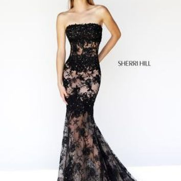 Prom Dresses 2014 - Sherri Hill 11084 Lace Mermaid