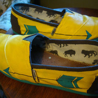 arrows and all over color of choice hand painted toms on by ArtfulSoles