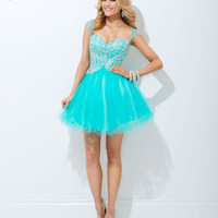 Homecoming Dresses - Tony Bowls Shorts TS11475 Cap Sleeves Short