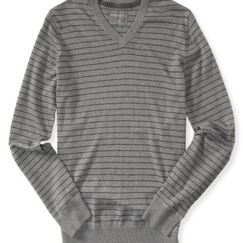 Thin Stripe V-Neck Sweater