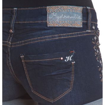 Premium Crafted Hydraulic Gramercy Short- Relaxed zip fly stretch jean Relaxed through the hip and t