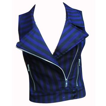 Purple Stripes Vest by Switchblade Stiletto