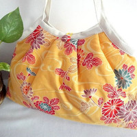 Japanese Kimono Pattern Granny bag purse chrysanthemum by MofLeema