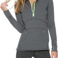 ROXY DAWN RUNNER HALF ZIP PULLOVER TOP