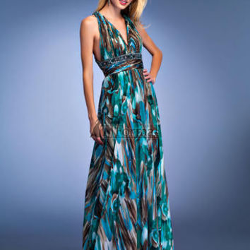 Cheap Prom Dresses - In Stock 6110 Multi Print