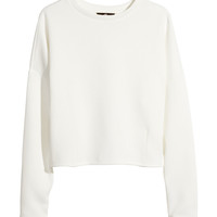H&M - Short Top - White - Ladies