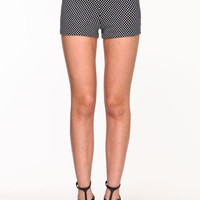 HIGH WAIST DOTTED SHORTS