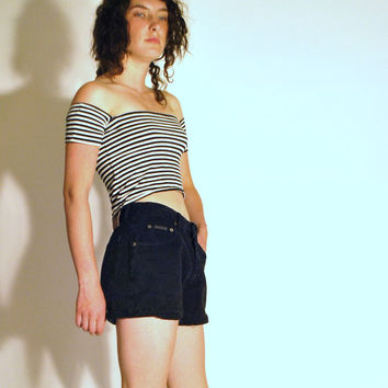 size 28 calvin klein grunge 90s black denim shorts