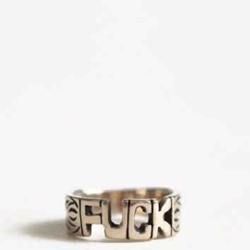 Fuck Word Ring By Jen's Pirate Booty - $26.00 : ThreadSence.com, Your Spot For Indie Clothing & Indie Urban Culture