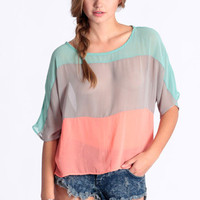 Late Morning Colorblock Top - &amp;#36;29.00 : ThreadSence.com, Your Spot For Indie Clothing &amp; Indie Urban Culture