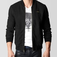 True Religion Mens Runner Jacket - Black