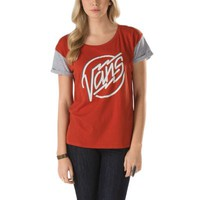 Vans Electrodeo Color-Blocked Tee (Ketchup)