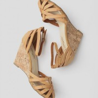 Anya Woven Wedges In Tan