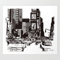 New York New York Art Print by Bianca Green
