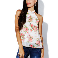 Papaya Clothing Online :: CUT OUT FLORAL TOP