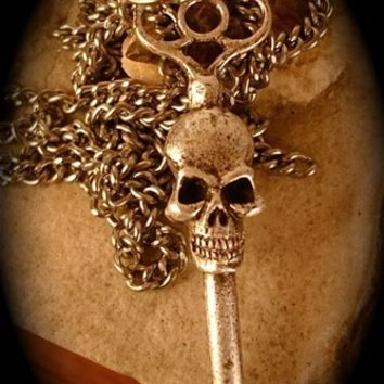 Double Faced, Skeleton Key Necklace by Blue Bayer Design NYC
