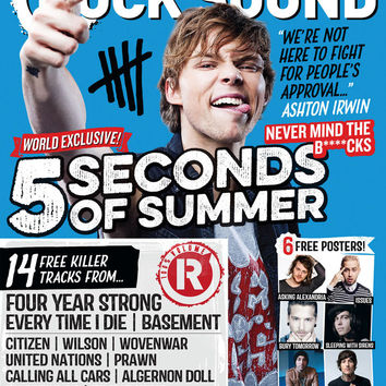 Rock Sound Magazine Store — ISSUE 190.3 / 5 SECONDS OF SUMMER / ASHTON