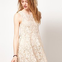 Free People | Free People Floral Lace Babydoll Dress at ASOS