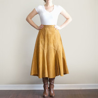 Vintage Small Leather Cowgirl Skirt
