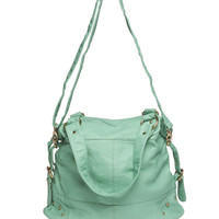 Studded Corner Satchel | Wet Seal