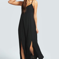 Gemma Double Split Woven Maxi Dress