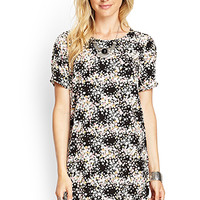 Ditsy Floral Pleated Shift Dress