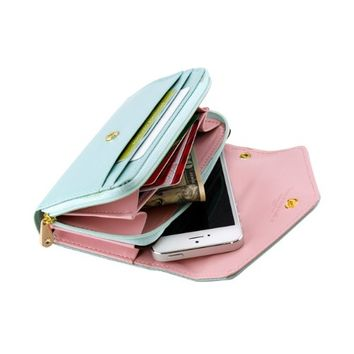 Gearonic AV-5376-MGreen-iph5 Multifunctional Wallet Purse Case for iPhone 5/4S/Samsung Galaxy S4…