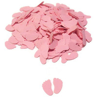 Pink Baby Shower Decor - Baby Feet Confetti - 500 Pieces