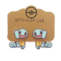 Squirtle (Pokemon Inspired) Cling Earrings