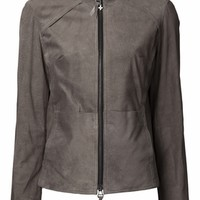 Beryll suede leather jacket taupe