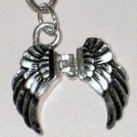 Angel Wings Secret Keeper Prayer Box Clip Charm Key Chain | StarlightSarah - Accessories on ArtFire