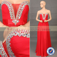 Promotion F82453A-2 Red beaded Crystal Stone Off-shoulder Sheer V-Neck elegant chiffon maxi evening dresses long, View chiffon maxi dresses, Choiyes chiffon maxi dresses Product Details from Chaozhou Choiyes Evening Dress Co., Ltd. on Alibaba.com