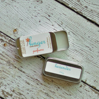 Solid Perfume Tin - Lavender  - Organic - Essential Oils Natural