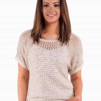 LUREX MESH SWEATER