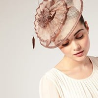 ASOS | ASOS Origami Pleat Detail Sinamay Fascinator with Soft Feather Detail at ASOS