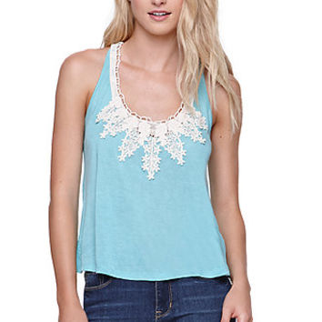 Roxy Crochet Yoke Swing Tank - Womens Tees -