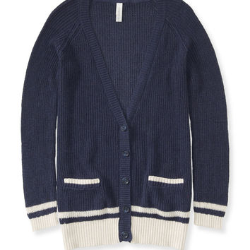 Varsity Striped Cardigan