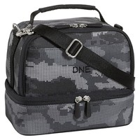 Gear-Up Black Digi Camo Dual Compartment Lunch