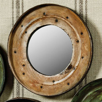 Drum Lid Mirror in White