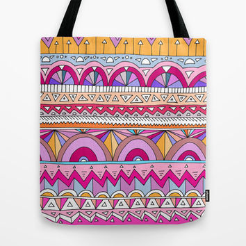 Tribal Lines #2 Tote Bag by Ornaart