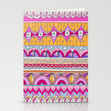 Tribal Lines #2 Stationery Cards by Ornaart