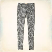 Hollister Black & White Patterned Leggings